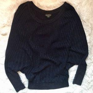 bebe Navy/Silver Metallic Sweater